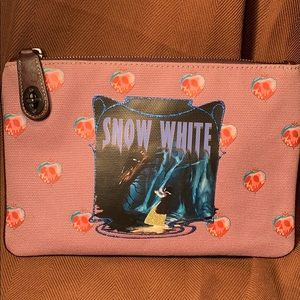 NWT Coach Snow White Disney canvas pouch w/zipper